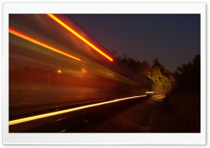 Train Long Exposure HD Wide Wallpaper for Widescreen