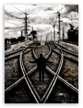 Train Road HD wallpaper for Mobile VGA - VGA QVGA Smartphone ( PocketPC GPS iPod Zune BlackBerry HTC Samsung LG Nokia Eten Asus ) ;