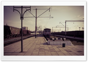 Train Station HD Wide Wallpaper for Widescreen