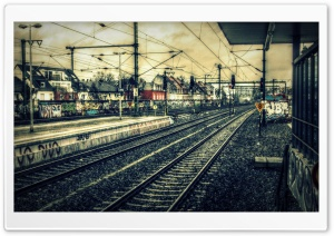 Train Station HDR HD Wide Wallpaper for Widescreen