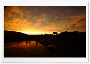 Train, Sunset HD Wide Wallpaper for Widescreen