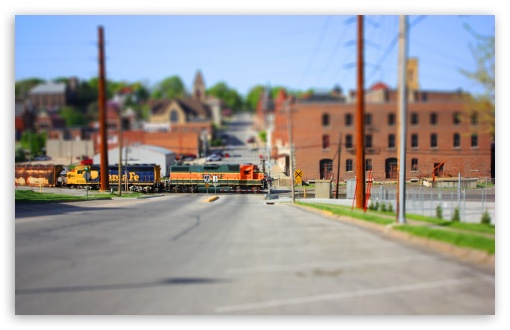 Train Tilt Shift HD wallpaper for Wide 16:10 5:3 Widescreen WHXGA WQXGA WUXGA WXGA WGA ; HD 16:9 High Definition WQHD QWXGA 1080p 900p 720p QHD nHD ; Standard 4:3 3:2 Fullscreen UXGA XGA SVGA DVGA HVGA HQVGA devices ( Apple PowerBook G4 iPhone 4 3G 3GS iPod Touch ) ; iPad 1/2/Mini ; Mobile 4:3 5:3 3:2 16:9 - UXGA XGA SVGA WGA DVGA HVGA HQVGA devices ( Apple PowerBook G4 iPhone 4 3G 3GS iPod Touch ) WQHD QWXGA 1080p 900p 720p QHD nHD ;