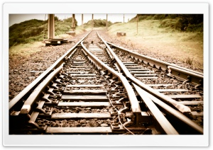 Train Tracks HD Wide Wallpaper for Widescreen