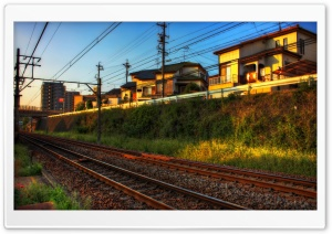Train Tracks And Light Ultra HD Wallpaper for 4K UHD Widescreen desktop, tablet & smartphone