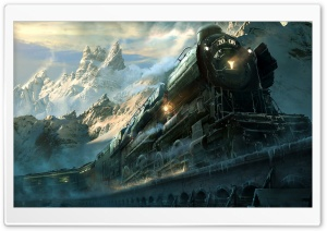 Train Travel Fantasy HD Wide Wallpaper for Widescreen