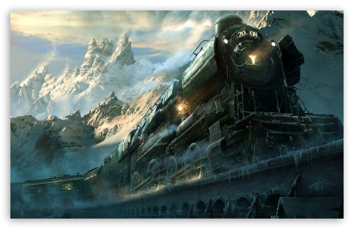 Train Travel Fantasy HD wallpaper for Standard 4:3 5:4 Fullscreen UXGA XGA SVGA QSXGA SXGA ; Wide 16:10 Widescreen WHXGA WQXGA WUXGA WXGA ; Other 3:2 DVGA HVGA HQVGA devices ( Apple PowerBook G4 iPhone 4 3G 3GS iPod Touch ) ; Mobile VGA iPhone iPad Phone - VGA QVGA Smartphone ( PocketPC GPS iPod Zune BlackBerry HTC Samsung LG Nokia Eten Asus ) HVGA Smartphone ( Apple iPhone iPod BlackBerry HTC Samsung Nokia ) ; Tablet 2 Android ;