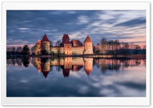 Trakai Island Castle, Lithuania HD Wide Wallpaper for Widescreen
