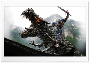 Transformers 4 Optimus Prime Vs Dinobot HD Wide Wallpaper for Widescreen