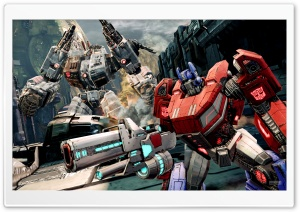 Transformers FOC - Optimus and Metroplex HD Wide Wallpaper for Widescreen