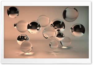 Transparent Balls HD Wide Wallpaper for Widescreen