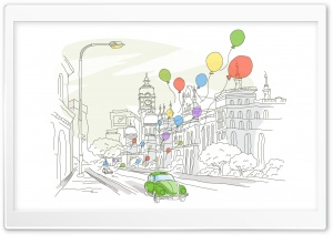 Travel Illustrations 21 HD Wide Wallpaper for Widescreen