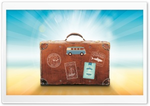 Travel Suitcase HD Wide Wallpaper for Widescreen