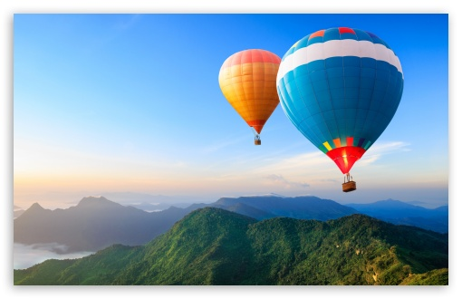Download Travel the World, Hot Air Balloons HD Wallpaper