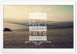 Traveling Quote HD Wide Wallpaper for 4K UHD Widescreen desktop & smartphone