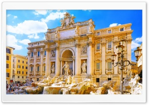 Trevi Fountain HD Wide Wallpaper for Widescreen