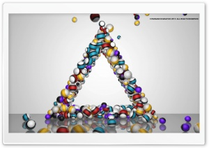 Triangle Balls HD Wide Wallpaper for Widescreen