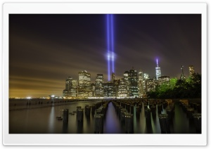 Tribute In Light New York City HD Wide Wallpaper for Widescreen
