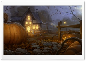 Trick or treating Halloween Autumn Fall HD Wide Wallpaper for 4K UHD Widescreen desktop & smartphone