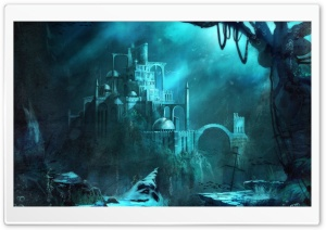 Trine 2   Underwater Castle HD Wide Wallpaper for Widescreen