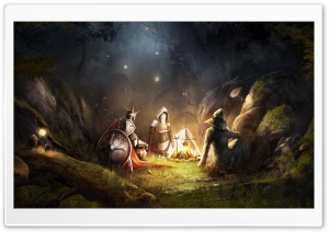 Trine 2 Story Campfire HD Wide Wallpaper for 4K UHD Widescreen desktop & smartphone