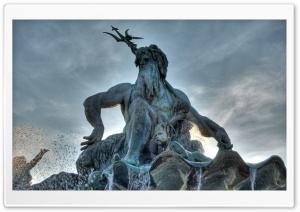 Triton Statue HD Wide Wallpaper for Widescreen
