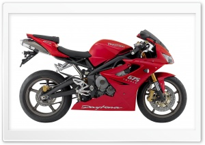 Triumph Daytona 675 Triple Red HD Wide Wallpaper for Widescreen