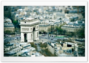 Triumphal Arch Paris HD Wide Wallpaper for Widescreen