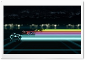 Tron Bikes HD Wide Wallpaper for Widescreen