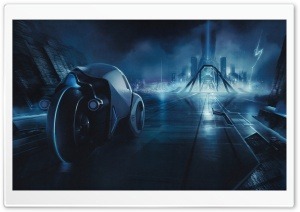 Tron City HD Wide Wallpaper for Widescreen