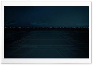 Tron Cityscape HD Wide Wallpaper for Widescreen