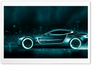 Tron Inspired Aston Martin Vanquish HD Wide Wallpaper for Widescreen