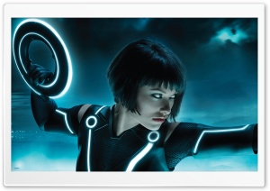 Tron Legacy, Olivia Wilde As Quorra HD Wide Wallpaper for Widescreen