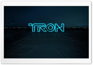 Tron Logo HD Wide Wallpaper for 4K UHD Widescreen desktop & smartphone