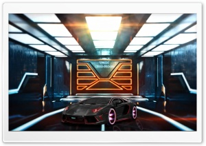 Tron Showroom HD Wide Wallpaper for Widescreen