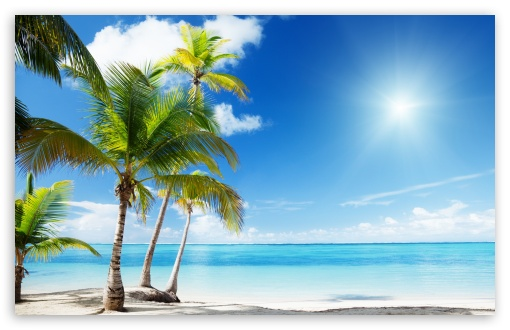 Hd Tropical Island Beach Paradise Wallpapers And Backgrounds: Tropical Beach Paradise 4K HD Desktop Wallpaper For 4K