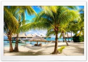 Tropical Beach Resort HD Wide Wallpaper for Widescreen