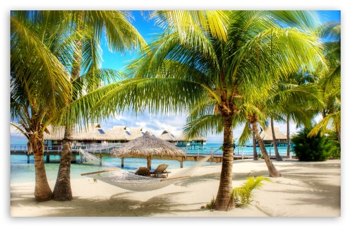 Hd Tropical Island Beach Paradise Wallpapers And Backgrounds: Tropical Beach Resort 4K HD Desktop Wallpaper For 4K Ultra