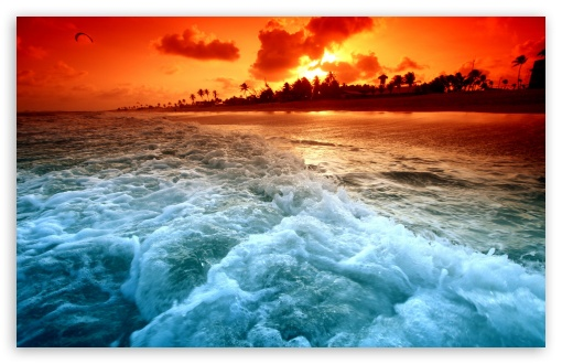 Tropical Beach Sunset Ultra Hd Desktop Background Wallpaper For 4k Uhd Tv Multi Display Dual Monitor Tablet Smartphone