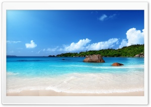 Tropical Beach Sunshine HD Wide Wallpaper for Widescreen