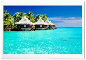 Tropical Bungalows HD Wide Wallpaper for Widescreen