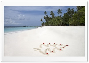 Tropical Christmas Maldives Islands Bandos Island HD Wide Wallpaper for Widescreen