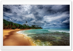 Tropical Coast With Beautiful Beach HD Wide Wallpaper for Widescreen