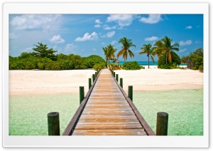 Tropical Dock HD Wide Wallpaper for Widescreen