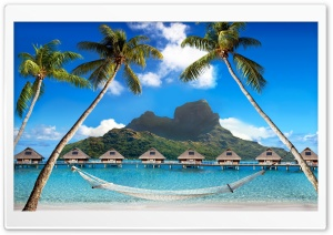 Tropical Islands With Mountains HD Wide Wallpaper for Widescreen