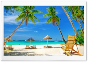 Tropical Paradise Beach HD Wide Wallpaper for Widescreen
