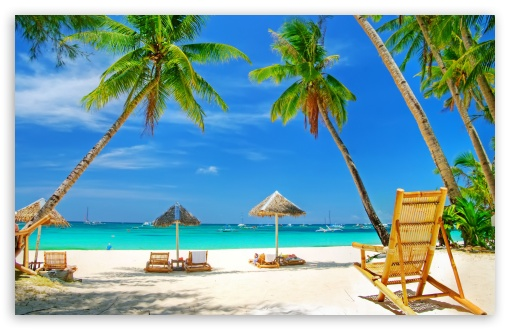 Download Tropical Paradise Beach HD Wallpaper