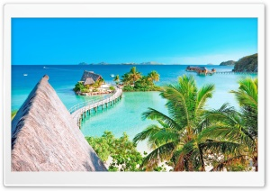 Tropical Resort Panorama HD Wide Wallpaper for 4K UHD Widescreen desktop & smartphone