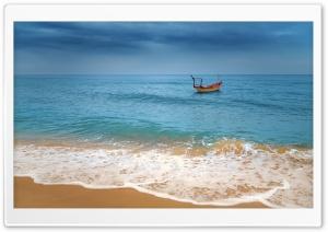 Tropical Sea, Beach, Storm Clouds HD Wide Wallpaper for 4K UHD Widescreen desktop &