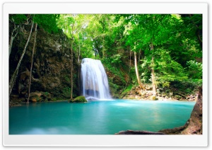 Tropical Waterfall Ultra HD Wallpaper for 4K UHD Widescreen desktop, tablet & smartphone