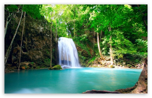 Download Tropical Waterfall HD Wallpaper